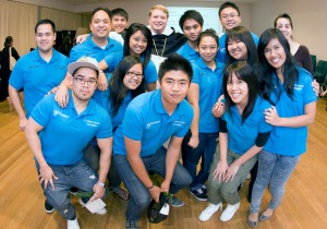 Bishop Anthony with Marayong young people
